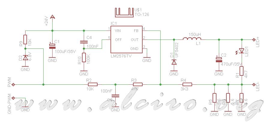 Regulador pwm de diodos leds powerled dom tica sencilla for Regulador para led